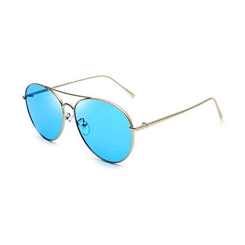 LDH Gafas de Color Transparentes Gafas de Sol Mujeres Mujeres, Gafas de Sol Ultraviolet para Mujeres, Gafas de Sol de Marco de Metal Ligero de Alta Definición (Color : D)