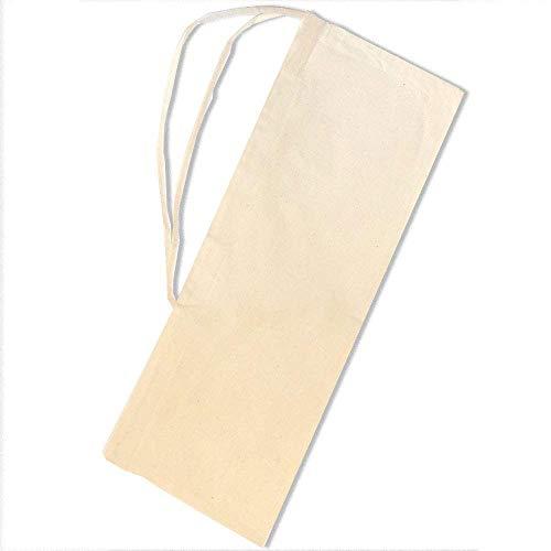 SACASAC ® Bolsa de baqueta - Protección - Asa de Transporte - 25 x 65 cm. 100% algodón - Fab. Francia