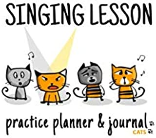 Singing Lesson Practice Planner & Journal (Cats)