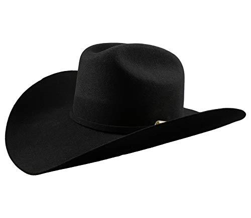 El General Men's Cowboy Hat Texana 100X Horma Joan Color Black Wool (7 1/4)