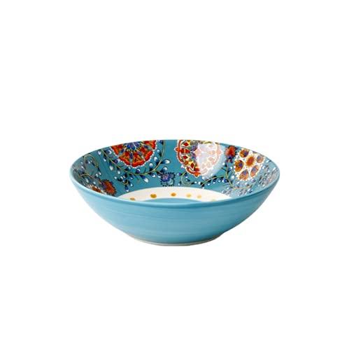 JONJUMP 8.3 pulgadas tazón cerámica vajilla estilo bohemio flores redondas hueso China hogar suministros de cocina vajilla