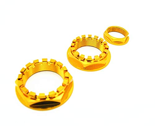 RONGLINGXING Powersports Teile Aluminium Vorne Hinten Achsmutter CNC Racing for Ducati Monster (Color : Gold)