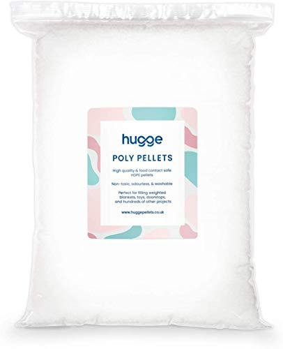 hugge 20kg Plastic Poly Pellets - Packs from 0.5kg - 25kg - Weighted Blanket & Toy Stuffing