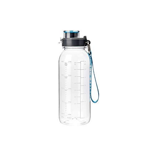 DSFHKUYB Botella de Agua de 1000 ml - Botella de Agua Deportiva con Tiempo para Beber, sin BPA, Duradera, Reutilizable, para Gimnasio, Entrenamiento, Senderismo, Viajes, Oficina,A