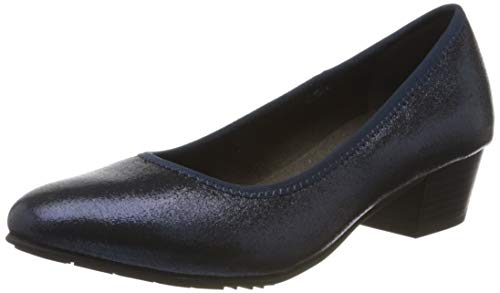 Jana Softline Damen 8-8-22361-24 Pumps, Blau (Navy Metallic 897), 39 EU