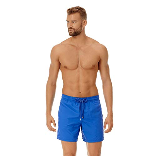Vilebrequin Herren Men's Moorea Solid Swimtrunk-XS Badehose, ozeanblau, X-Small