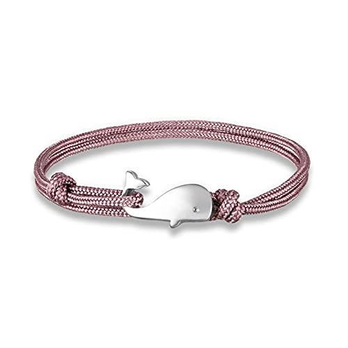 ZYQXB - Pulseras para hombre y mujer (color metálico: morado rosa pálido)