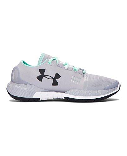 Under Armour Women's UA Speedform Amp Overcast Gray/White/Black Sneaker 8.5 B (M)