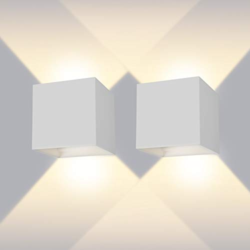 Applique a LED 3W a spirale a LED R Applique Applique KTV Decor da parete blu