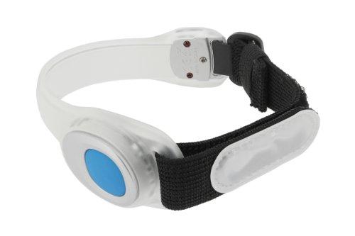 Runtastic RUNRFA1 Pulsera de seguridad, iluminación LED, Negro, Blanco