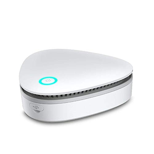 Zeerkeer Ozono Refrigerador Purificador Mini Generador de Ozono Portátil Purificador de Aire USB Recargeable Esterilizador para Congelador, Gabinete de Zapatos, Armario