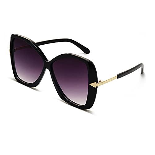 ShSnnwrl Único Gafas de Sol Sunglasses Gafas De Sol De Montura Grande De Moda para Mujer, Gafas De Sol De Ojo De Gato De Mariposa