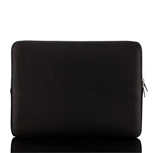 Bolsa de manga macia com zíper 15 '' - 15,6 '' Bolsa portátil de reposição para laptop MacBook Pro Retina Ultrabook preto