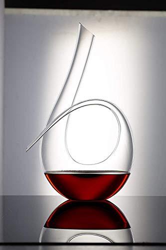 HJYSQX Jarra, jarras de Whisky, Cristal, 1.2 L, 6 Formas, Wine Breather clásico, Accesorios para Vino, Estilo Italiano, sin Plomo