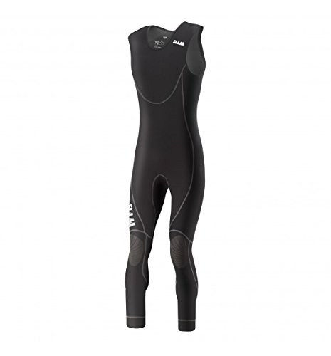 Slam Skiff Collection Men's 0.5mm Neoprene Long John Wetsuit Col. 500 Thermal Anatomic and Ergonomic fit Neo Black Long John Wetsuit Large
