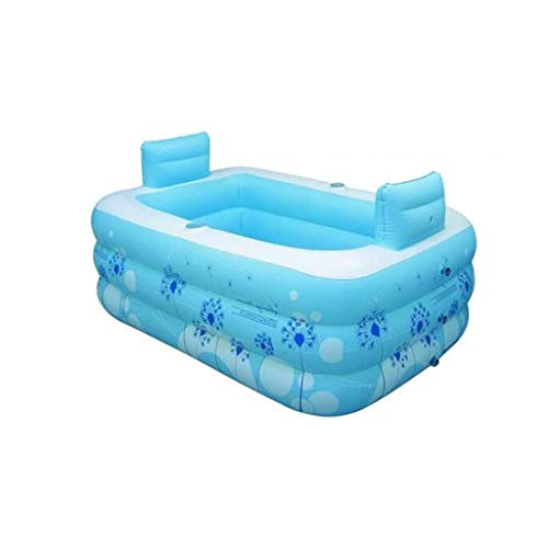 NXYJD Piscina Inflable, Familiar Bañera de hidromasaje for Adultos Barril niños Espesado bañera Inflable