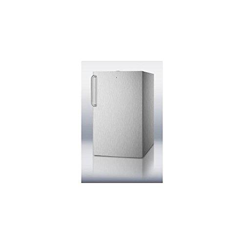 Summit CM421BLCSSADA Refrigerator, Stainless Steel