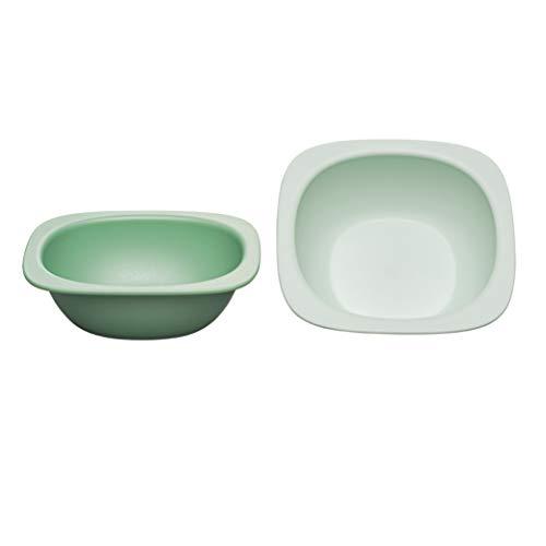 nip Eat Green öko bio Breischale: Ohne Melamin und BPA, Spülmaschinenfest, geeignet für die Mikrowelle, 2 Stück, grün