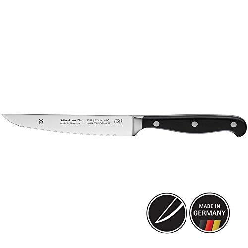 WMF Spitzenklasse Plus Allzweckmesser Doppelwellenschliff 22 cm, Messer geschmiedet, Performance Cut, Kunststoff-Griff vernietet, Klinge 12 cm