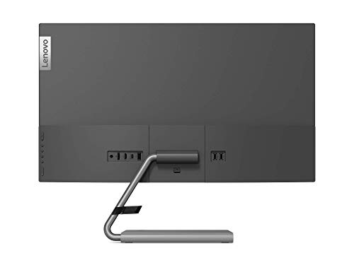 Lenovo Q27h-10 68,58 cm (27 Zoll, 2560×1440, WQHD, 75Hz, WideView, entspiegelt) Monitor (HDMI, DisplayPort, 4ms Reaktionszeit, AMD Radeon FreeSync) grau - 2