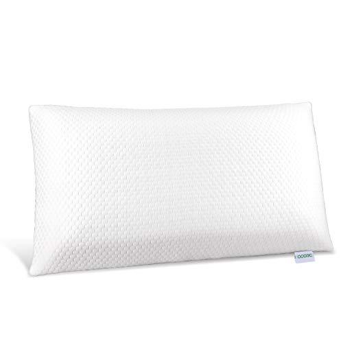 Adoric Kopfkissen Kissen Schlafkissen, Kopfkissen aus durckausgleichendem Visco-Gelschaum(Memory Foam) mit umweltfreundlichem Kissenbezug, 72 x 40 x 15 cm