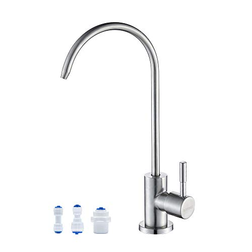 KAIYING llave de agua potable, llave de agua filtrada sin plomo, se adapta a la mayoría de las unidades de ósmosis inversa o sistema de filtración de agua en espacio no aire,...