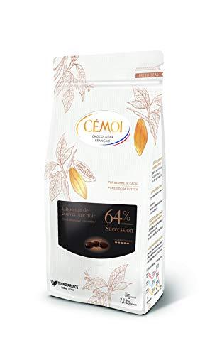 Cémoi Sac Succession Noir 64% Palets Chocolat De Couverture 1 Kg