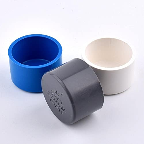 FSALFWUYIHDSF 1-5 Piezas 20/25/32/40/50/63/75/90 / 110mm Tapa de Extremo de PVC para tubería de riego de jardín Accesorios de Acuario-Gris (5 Piezas), diámetro Interior de 90mm