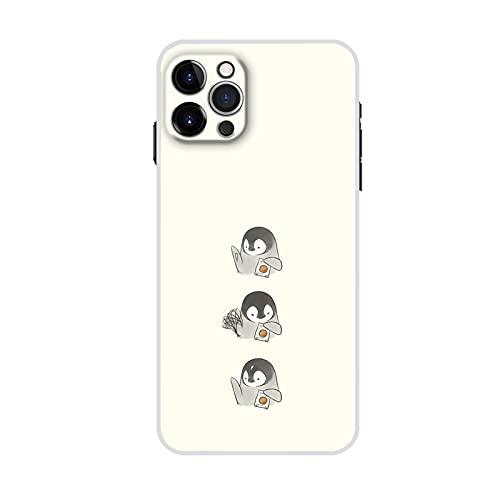 Cajas De Plástico Rígido Compatible para Liverpool iPhone 11 Pro Case Diseño Little Cute Penguin para Niño Linda