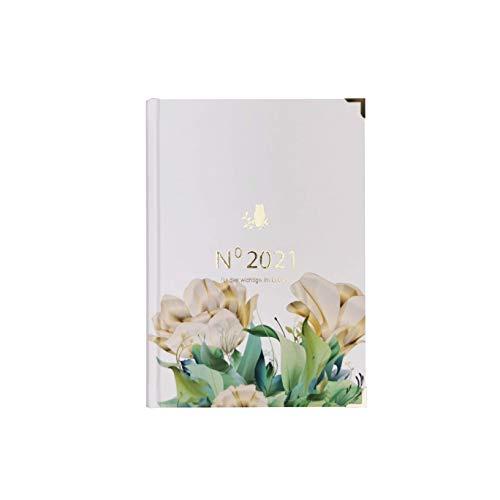 Kalender 2021, Taschenkalender 2021, Planer 2021 DIN A5, Bullet Journal, Terminkalender (weekly blumen 2021)