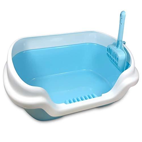 Husdjur hund katt toalett träning sängpan själv rengöring kull box anti splash valp hem plast sandlåda katt toalett träning (Color : 5)