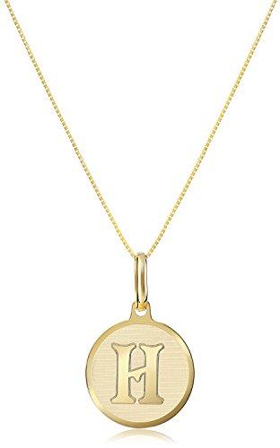 14 karaat 585 goud verschillende letterhangers met ketting geelgoud