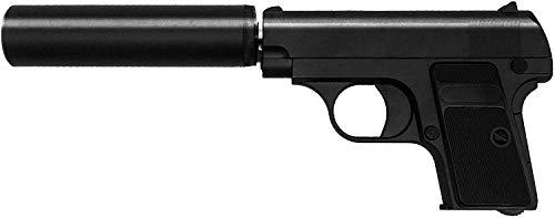 Softair Airsoft Pistola G1A Full Metal Completamente in Metallo (Manuale a Molla), Replica nella Scala 1:1,8, Lunghezza: 13,5 cm, Peso: 405 g, (meno di 0,5 Joule - da 14 anni)
