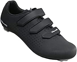 Vibrelli Men's Cycling Shoes - Road, Peloton, Spin Shoes - Fits All Cleats: Look, Shimano, Delta, Keo, SPD, SPD-SL - Indoor Cycle Bike Shoes - Cleats not Included Black