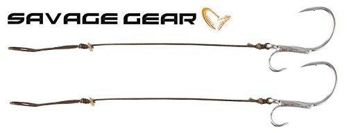 Savage Gear Stinger Bigfish 1mm 100kg 9/0-2 Stück, Meeresangeln, Norwegen, Angeln auf Dorsch, Big Lure, Big Game, Gummiköder