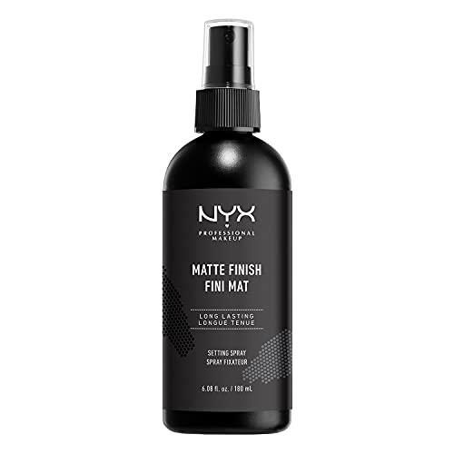 NYX Professional Makeup Setting Spray Matte, Vegane, langanhaltende Formel, Make up Fixier Spray, Mattes Finish, Maxi Größe, 180 ml