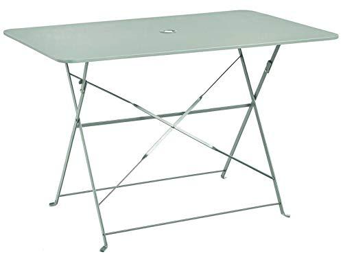 PEGANE Table Pliante rectangulaire en métal Coloris Mint - Dim : 110 x 70 x 70cm