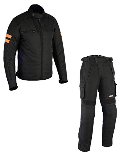 Motorradkombi Biker Motorrad Textil Kombi wasserdichte Jacke+Hose (XXL)