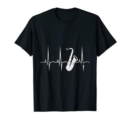 Herzschlag EKG Saxophon T-Shirt