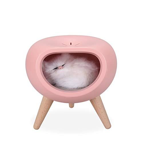 Xunsdzsw Schlüsselanhänger Nette Katze berühren Dimmen-LED-Nachtlicht-Kind (Emitting Color : Pink)
