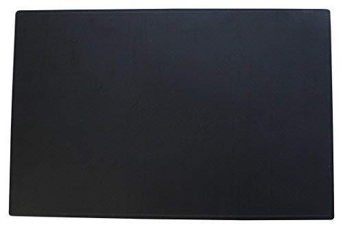Kim Kranholdt bureau-onderlegger hoogwaardig van leervezelstof, 58 x 38 cm zwart