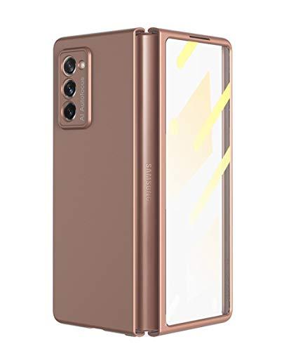 TingYR Hülle für Samsung Galaxy Z Fold 2 5G, All-Inclusive-Hülle & Schutz vor gehärteten Filmen. (Rose_Gold)