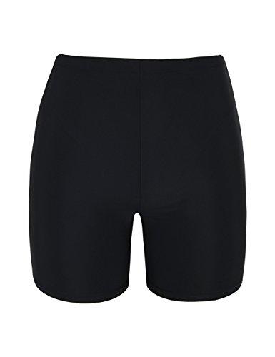 Firpearl Women's Board Shorts UPF50+ Sport Surf Shorts Swimsuit Bottom Swim Shorts Black US8