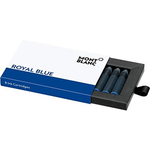 Montblanc 105193 Cartuchos de tinta de alta calidad Royal Blue – Lujosas recargas para pluma, 8 x paquete