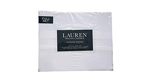 Lauren Ralph Lauren Dunham White Sheet Set Full