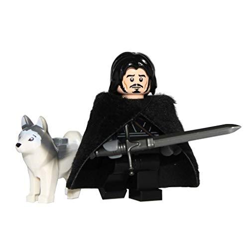 Demonhunter Bricks Custom Juego de Tronos Jon Nieve con Personalizado Piel Capa y Espada