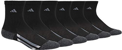 adidas Juventud gráfico tripulación calcetín (6-Pack), Niños, Color Black/Black-Onyx Marl/Light Onyx/Onyx, tamaño Medium