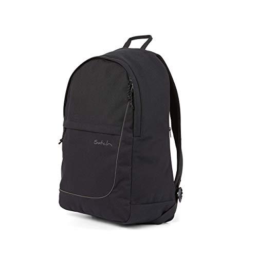 satch Fly, Rucksack für die Freizeit, Rückenpolster, großes Hauptfach - All Black, Schwarz