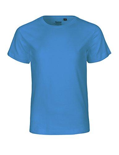 Neutral Kids Short Sleeved T-Shirt, 100{e749d8ac5cb5ff1f616955d6b65d4ce6b19a06aa90343bd15a8b89fd4ae9fd23} Bio-Baumwolle. Fairtrade, Oeko-Tex und Ecolabel Zertifiziert, Textilfarbe: saphirblau, Gr.: 152