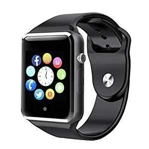 A1 Smartwatch Bluetooth Nero con sim gsm Orologio con App per Samsung Galaxy A40 A50 A70 PCJOB